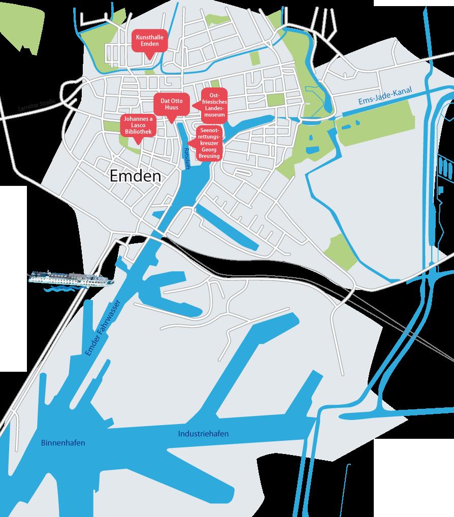 Emden Karte