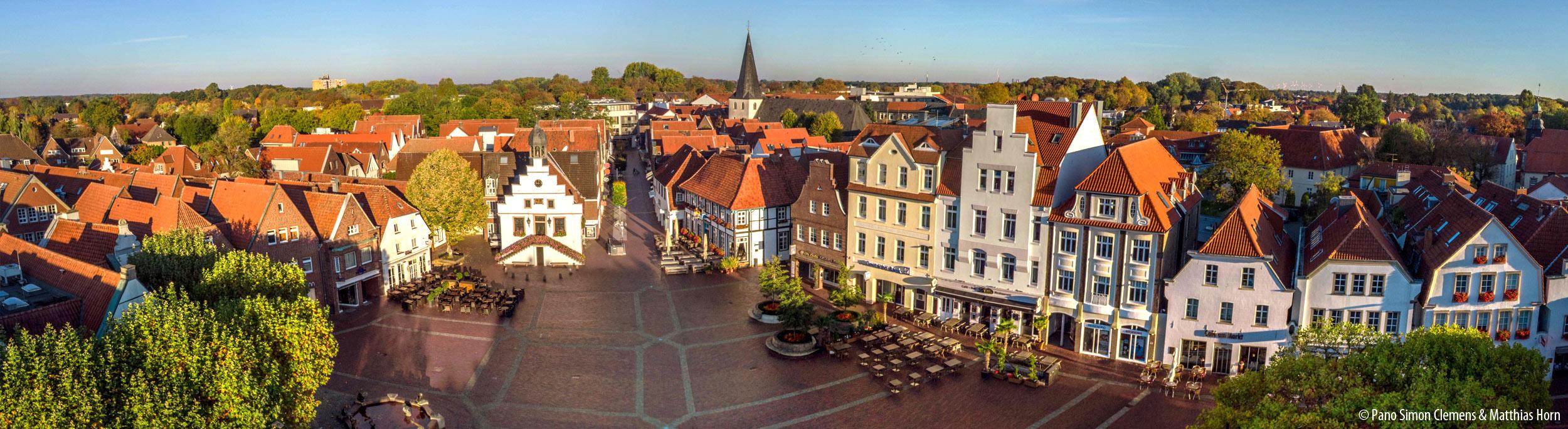Panorama Lingen Marktplatz